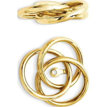 14k or jaune poli amour Vestes Knot (17x16mm) Boucles d'oreilles - image 3 de 3
