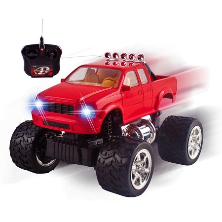 RC Truck Off-Road Series 1:20 Mini Scale Big Wheel Remote Control Car With LED Headlights Ready to Run Fast Nimble Handling Monster Trucks Beast Buggy Toy (Red) (Monster Truck Toys)