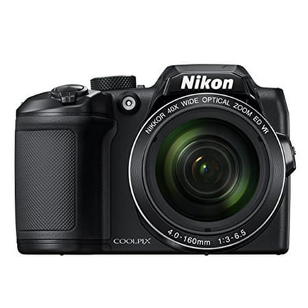 Nikon Black COOLPIX B500 Digital Camera with 16 Megapixels and 40x Optical Zoom (Cannon 16 Mp Camera)