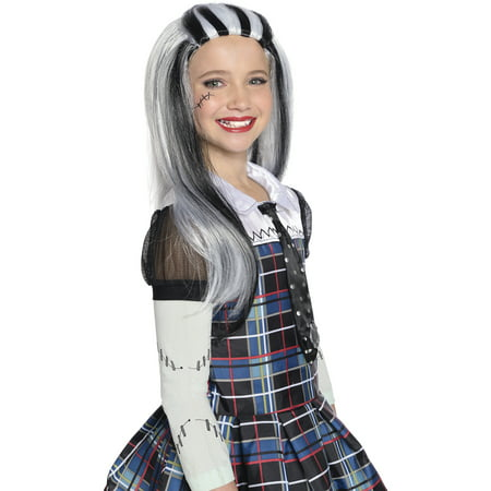 Monster High Frankie Stein Wig Halloween Costume Accessory (Halloween Frankie Human Steins)