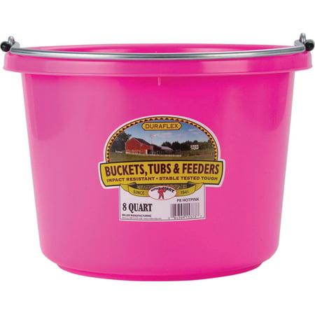 Miller Mfg Co Inc P-Little Giant Plastic Bucket- Hot Pink 8 Quart