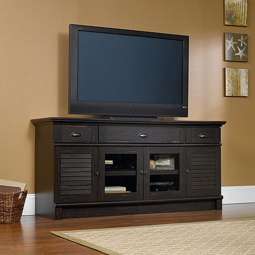 "Sauder Harbor View TV Stand for TVs up to 70"", Antique Paint"