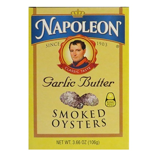 Napoleon Garlic Butter Smoked Oysters (1x3.66 OZ ) by Napoleon Co.