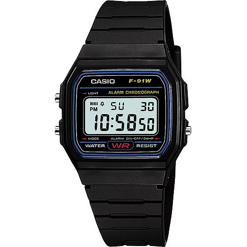 Casio Mens Casual Ana-Digi Gold Dial Sports Watch, Black Resin Strap