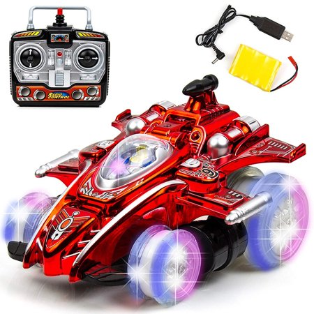 Toysery Speed Drift Stunt Car 2.4GHZ with Colour Lights | 6 Channels Wireless Remote Control Series | Turns in Any Direction | Best for 8+ Ages Children | Equipped with High Performance USB