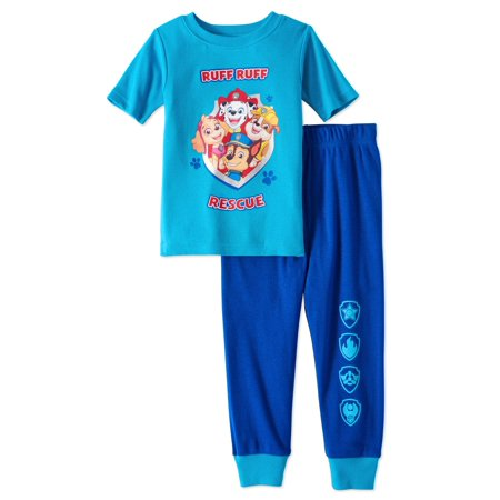 Paw Patrol Paw patrol baby toddler boys' short sleeve tight fit pajamas, 2pc set - Football Pajamas For Boys
