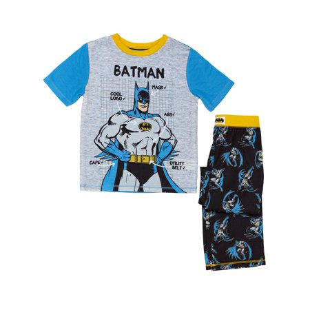 Batman Graphic Tee and Sleep Pant, 2-Piece Pajama Set (Little Boy & Big - Batman Pajamas Adults