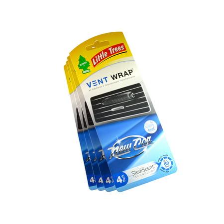 Little Trees Vent Wrap Air Freshener 4-PACKS (New Car