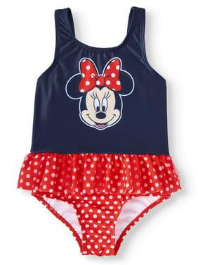 Minnie Mouse Toddler Girl Ruffle Tankini Swimsuit