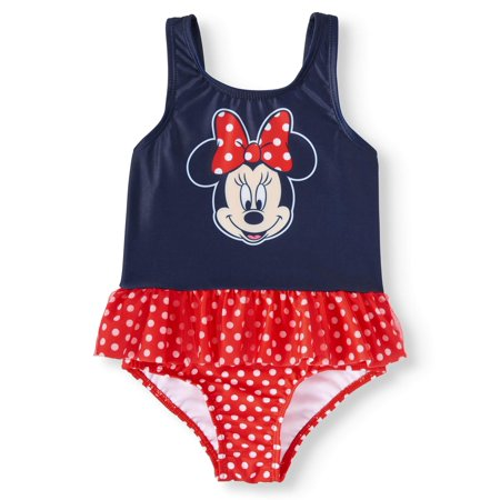 Toddler Girls' Minnie Mouse Ruffle Tankini