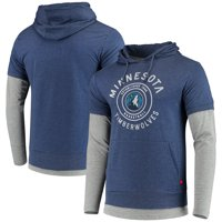 Minnesota Timberwolves Sportiqe Miller Two-Tone Tri-Blend Pullover Hoodie - Navy