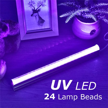 1/2PCS LED UV Black Light Fixtures,24 LEDs Portable Ultraviolet Blacklight Lamp,USB Charge DC5V Violet Lamp, For DJ Stage Dorm Party Club,UV Poster, UV Art - Uv Lights For Parties