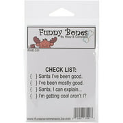 Riley & Company Funny Bones Cling Mounted Stamp 2. 75''X1. 5''-Check List