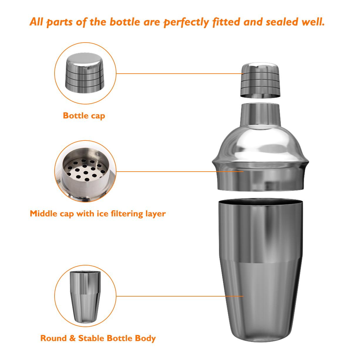 Stainless Steel Cocktail Shaker Mixer Drink Bartender Martini Bar Set Tool Kit