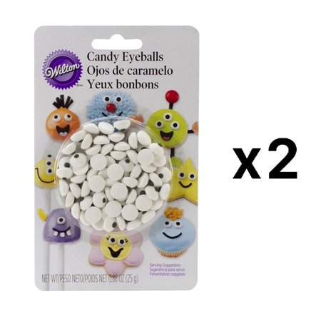 Candy Decorations 50/Pkg-White Eyeballs, Put a fun face on cookies, cupcakes, candy and cake pops By Wilton - Halloween Cookie Eyeballs Recipe
