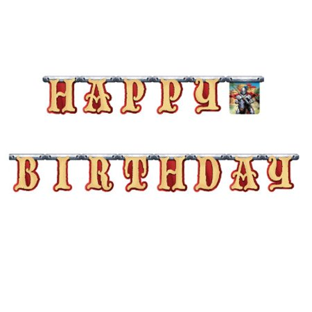 Medieval Knights Happy Birthday Jointed Banner (1 ct)](Knight Decorations)
