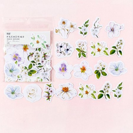 45pcs/set Kawaii Journal Cute Diary Flower Stickers Scrapbooking Stationery Decoration Scorpion