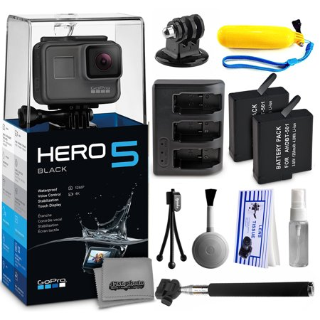 gopro hero5 black chdhx 501 with floaty bobber selfie stick two extra bat. Black Bedroom Furniture Sets. Home Design Ideas