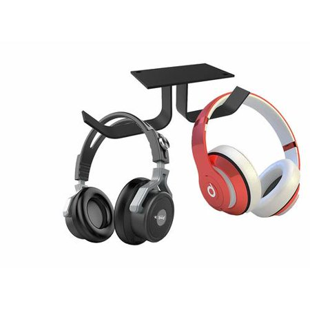 Primecables Universal Dual Headphone Stand Hanger, Silicone Under Desk Headset Holder Mount - image 5 of 5