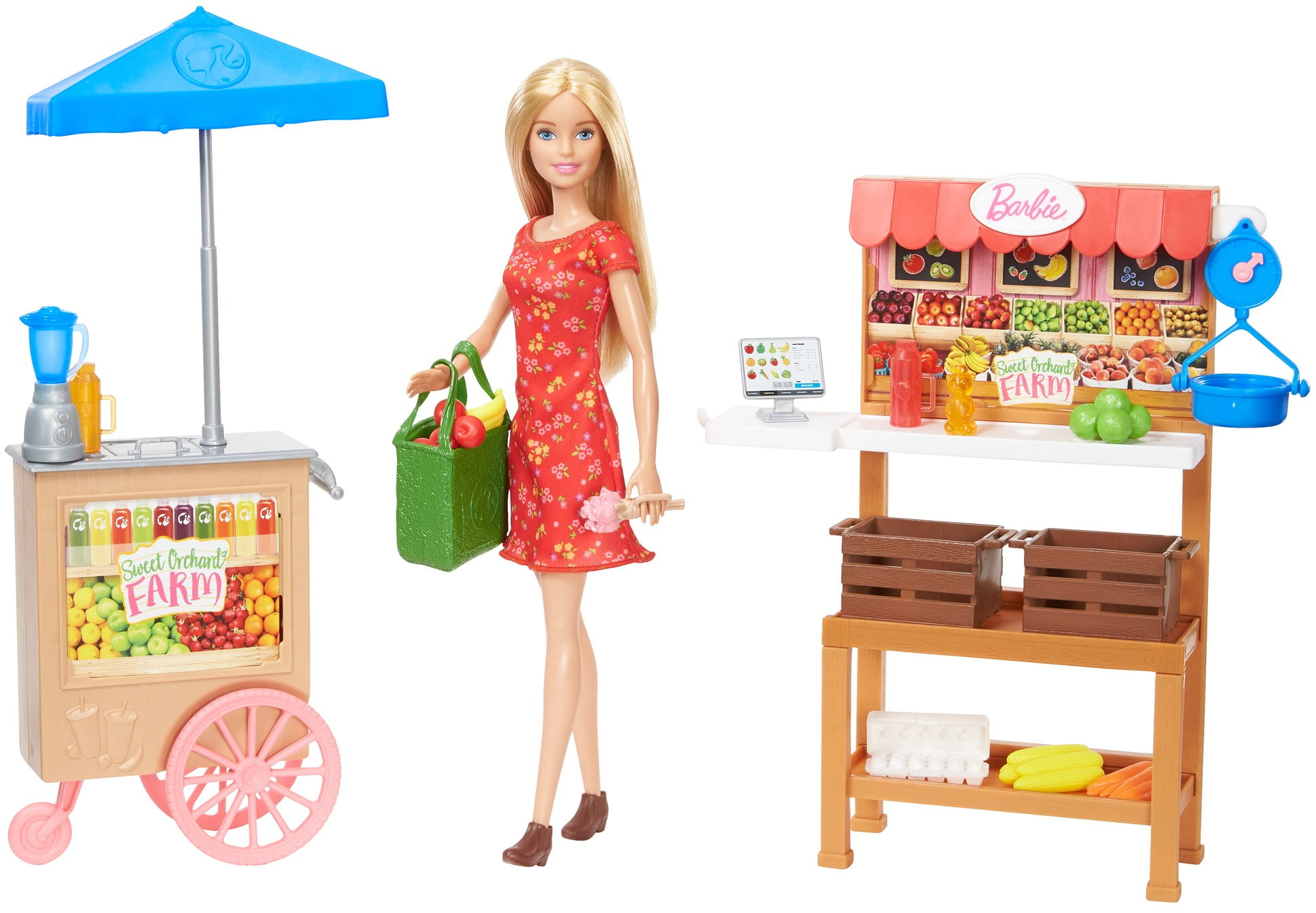 BRAND NEW Kids Barbie Sweet Orchard Farm Doll /& Pickup Truck with Accessories