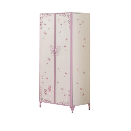 Acme Priya II Armoire, White and Light Purple by Acme Furniture