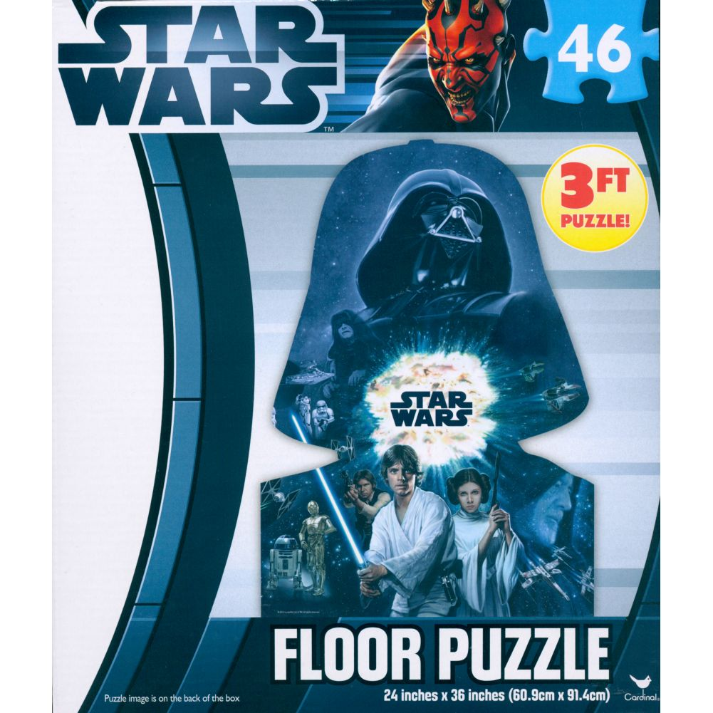 Star Wars Clone Wars 46 Piece Floor Puzzle