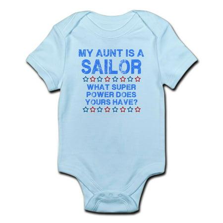 Cafepress   My Aunt Is A Sailor  Blue  Infant Bodysuit   Baby Light Bodysuit