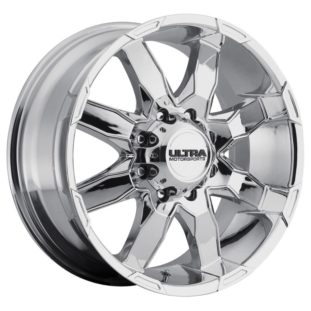 Ultra Phantom 16 Chrome Wheel / Rim 8x6.5 with a 10mm Offset and a 125 Hub Bore. Partnumber 225-6882C+10