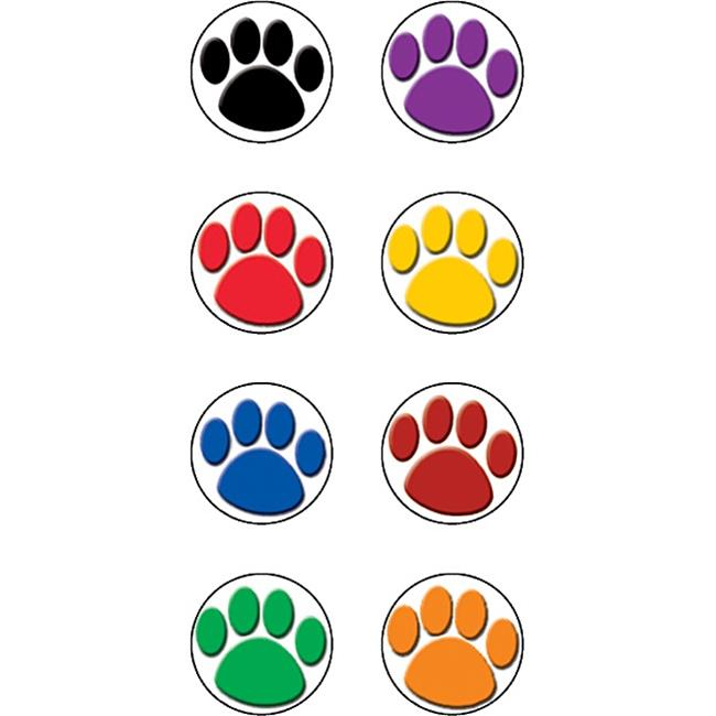 Colorful Paw Prints Mini Stickers - image 1 of 1