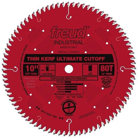 Heavy Duty Blade Grinder - Freud LU74R010 10-Inch 80-TPI Heavy Duty Thin Kerf Ultimate Cut-Off Saw Blade