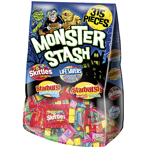 Wrigley Halloween Monster Stash Candy Variety Mix, 102.9 oz, 315ct