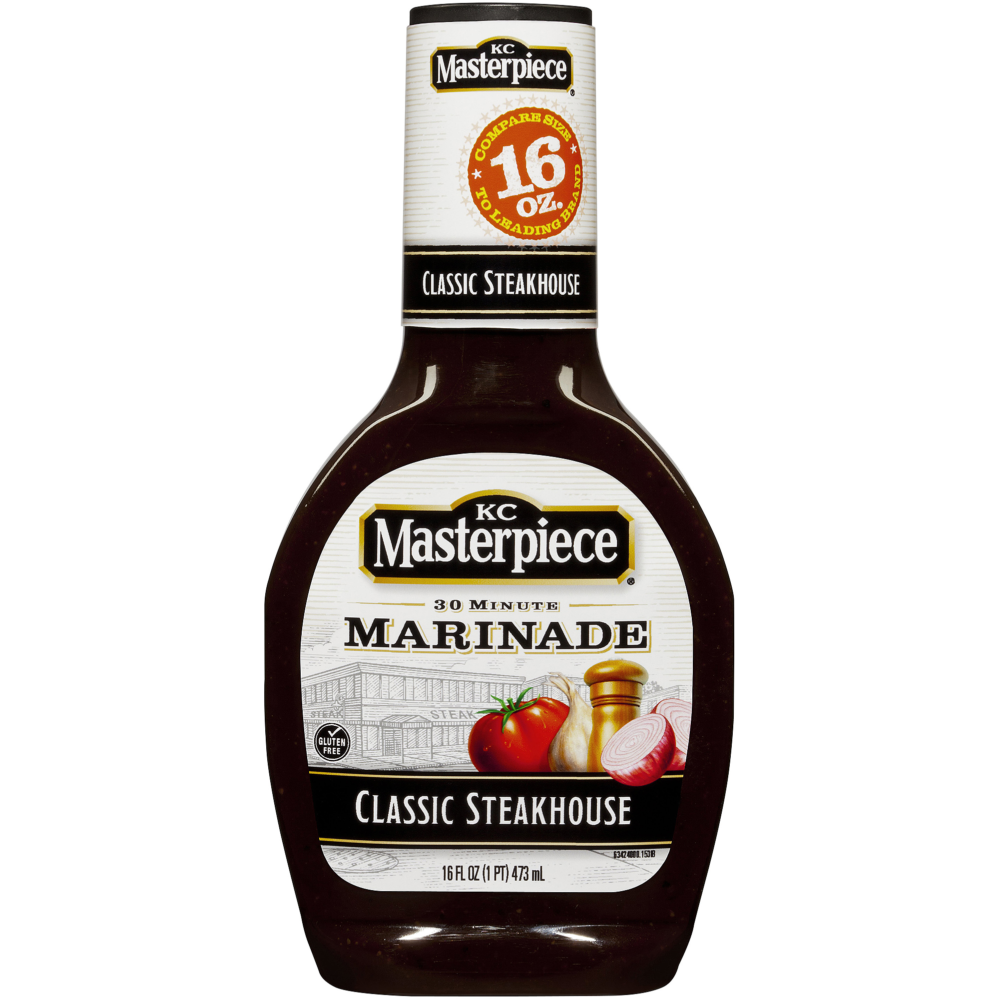 KC Masterpiece Steakhouse Marinade, 16 Fl oz