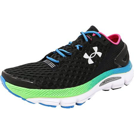 Under Armour Women s Speedform Gemini 2 Black   Dynamo Blue Metallic Silver  Ankle-High Running Shoe - 8.5M - Walmart.com f0c3e7769