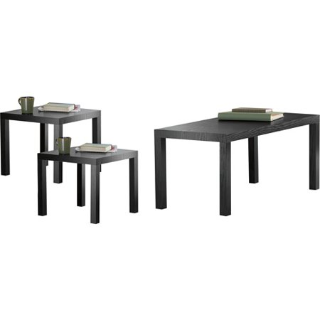 Parsons 3-Piece Coffee & End Tables Value Bundle, Multiple Colors (Tuscany Set Coffee Table)