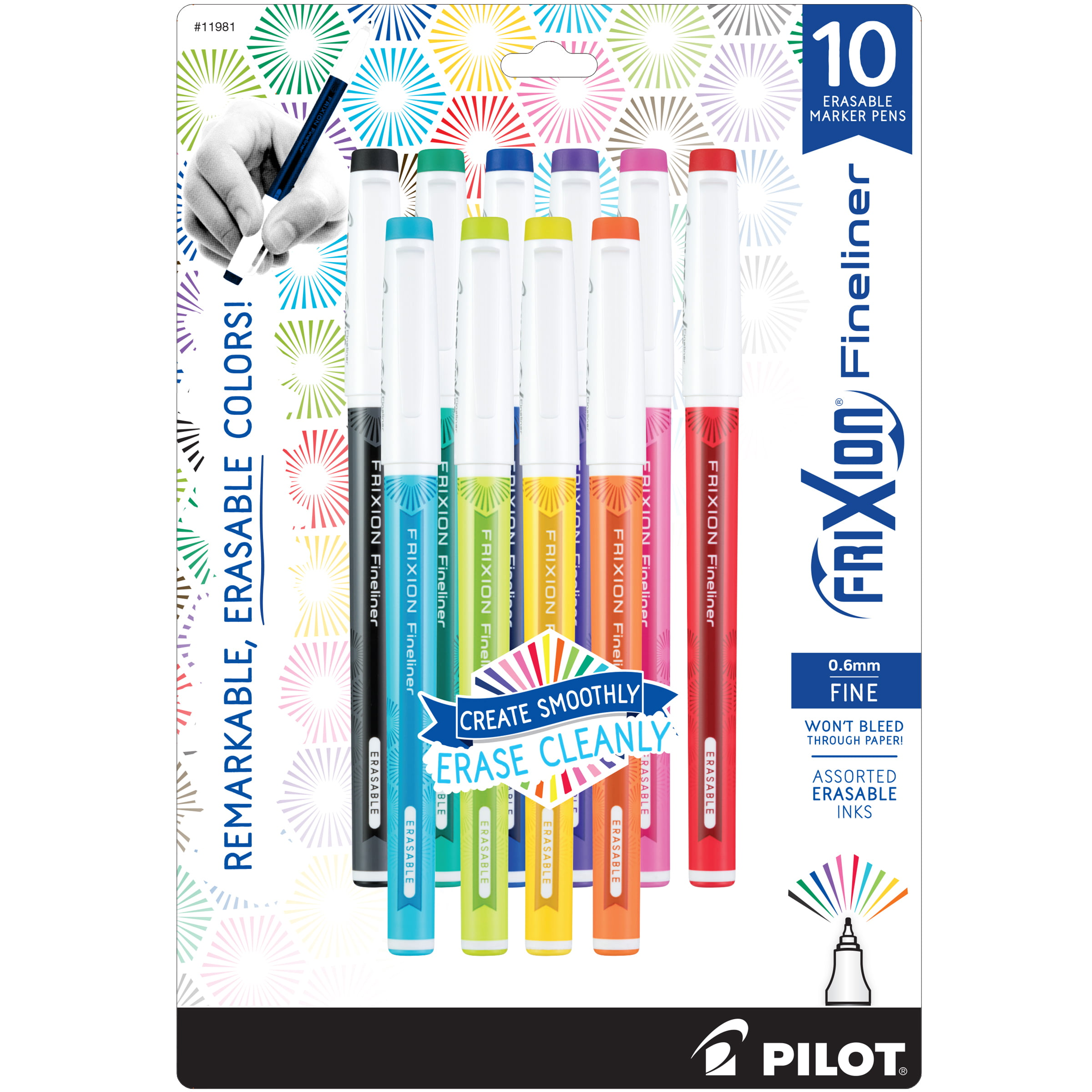 Box of 10 edding 141 F Permanent Markers Permanent Pens Black Fine Point