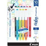 Pilot FriXion Fineliner Erasable Marker Pens, Fine Pt, Asst Colors, 10-Ct