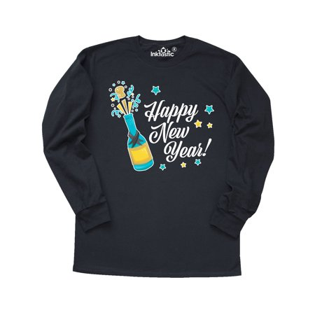 - Happy New Year with Champagne Long Sleeve T-Shirt