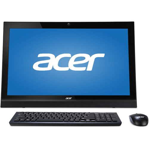 acer black aspire az1 621g uw11 all in one desktop pc with intel rh walmart com Acer Touch Screen Computer Review Acer Touch Screen Laptop