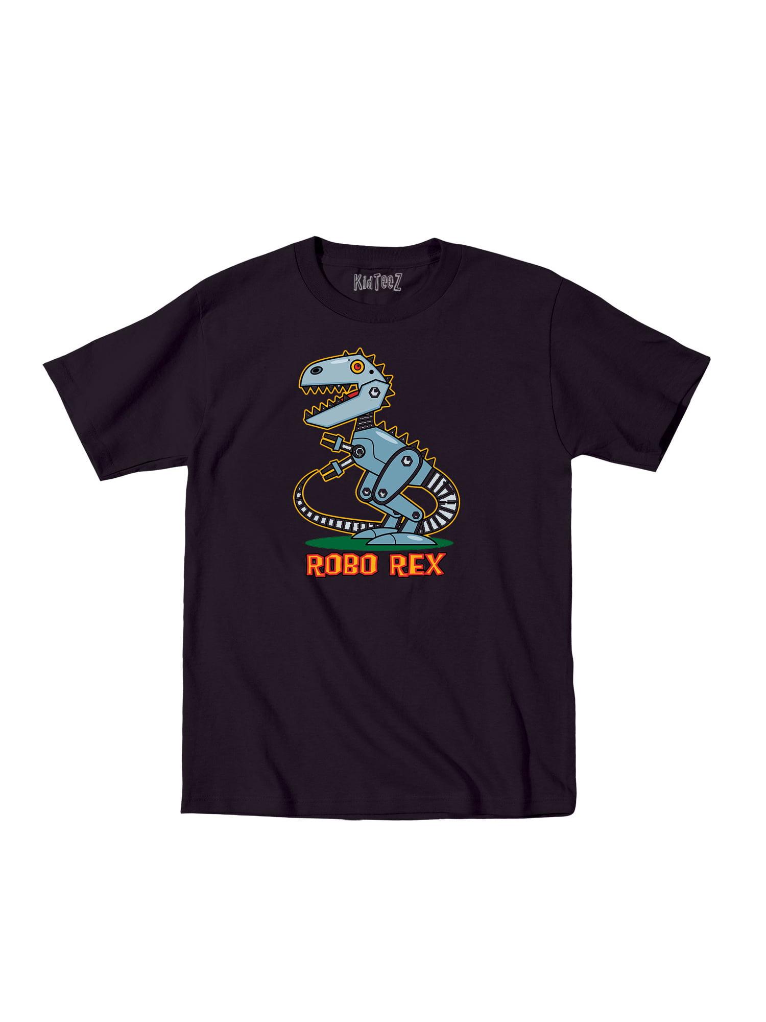 Robots Robo Rex Funny Toddler Tshirt