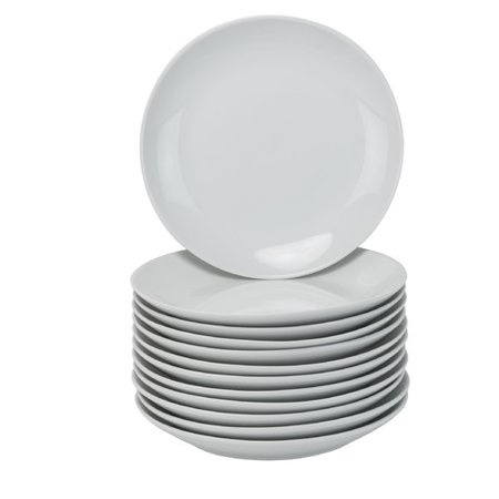 "10 Strawberry Street Catering Pack 7.5"" Coupe Salad Plates - Set of 12"