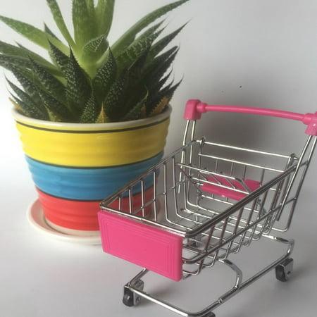 Creative Supermarket Mini Shopping Cart Trolley Metal Simulation Kid Toy - image 2 de 6