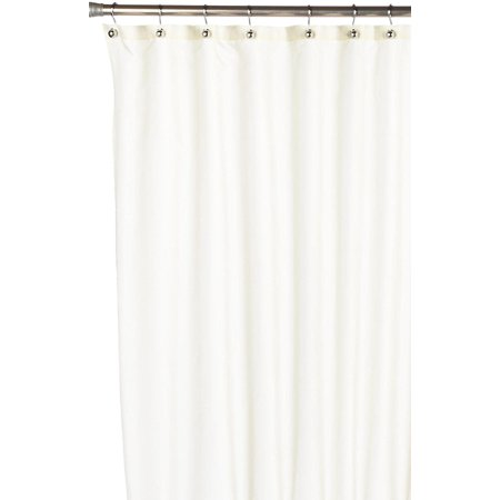Royal Bath Nylon Fabric Shower Curtain Liner With Reinforced Mesh Header And Metal Grommets, Size 70X72