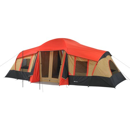 072d12fc22 Ozark Trail 10-Person 3-Room Vacation Tent with Shade Awning - Walmart.com