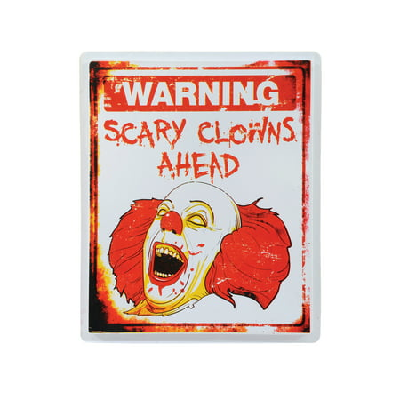 Scary Clown Sign Halloween Party Decoration](Scary Happy Halloween Sign)