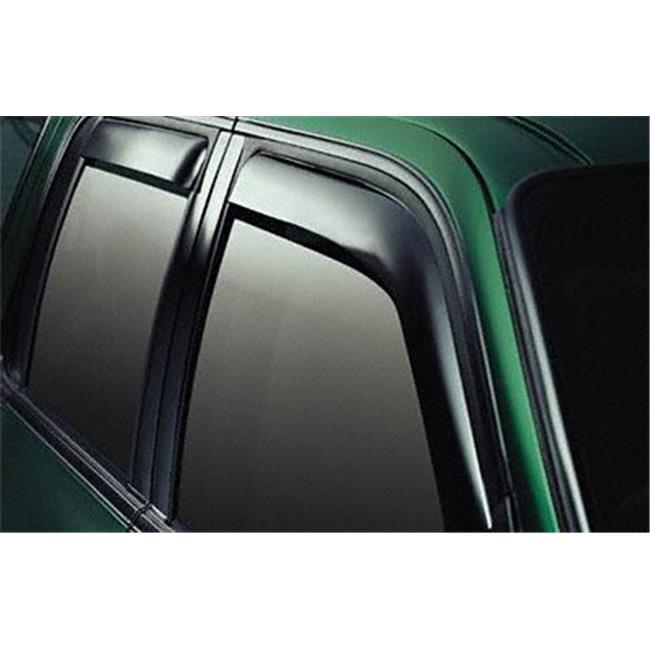 EGR 573511 Slimline In-Channel Window Visors - Smoke, 4 Piece