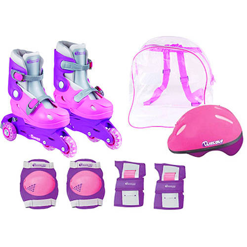 Chicago Skates Girls' Training Inline Skate Combo, Sizes 1-4