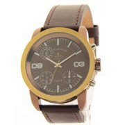 Croton SP399190BRBR Mens Brown Leather Chronograph Casual Watch