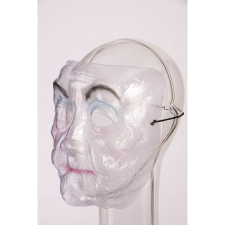 Transparent Mask - Old Lady Halloween Costume Accessory