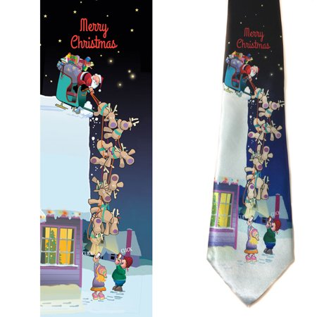 Stonehouse Collection Men's Funny Christmas Tie - Merry Christmas Necktie (Merry Christmas Tie)