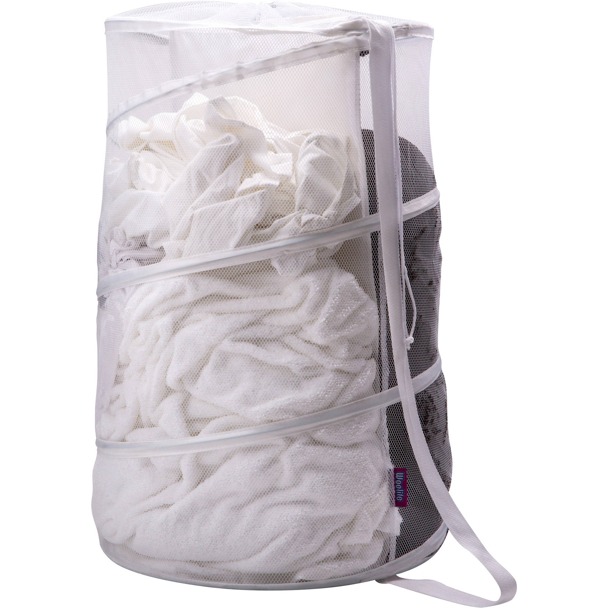 Woolite Sanitized Large Mesh Pop-Up Hamper with Divider